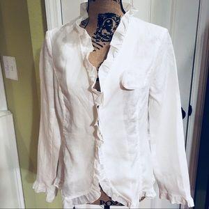 Amazing white summer Jacket Willi Smith size Med